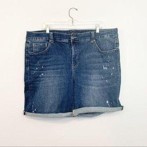 Melissa Mccarthy For Seven7 Denim Stretch Shorts